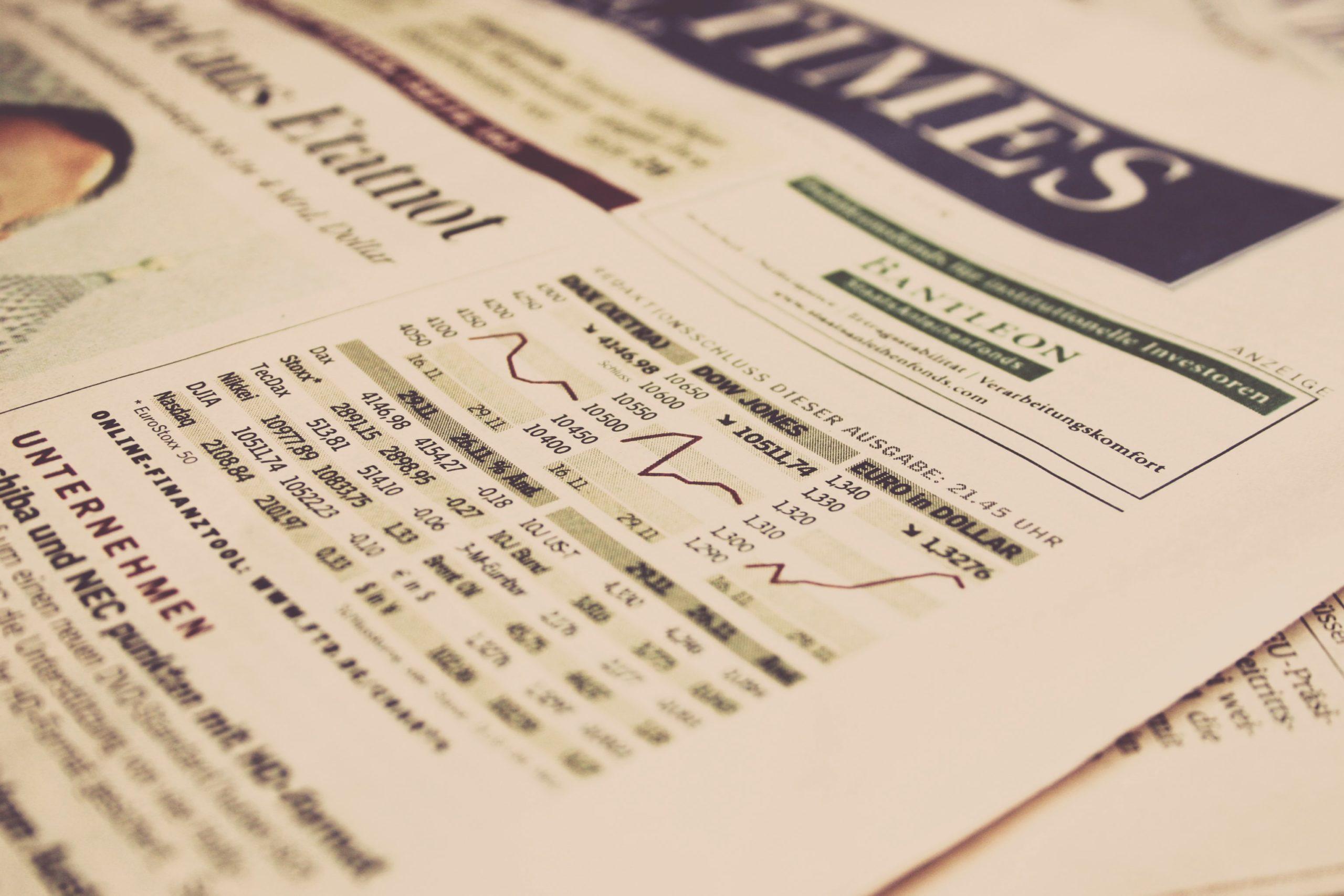 Aktuelle Börsendaten Financial Times